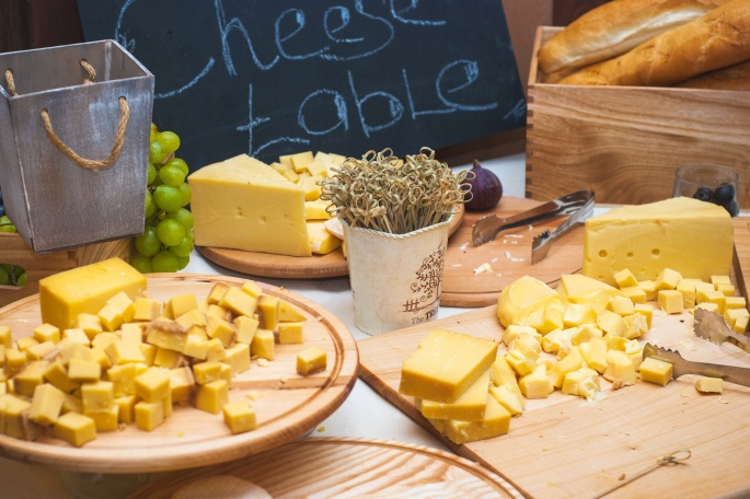 Cheese table - various types of cheese