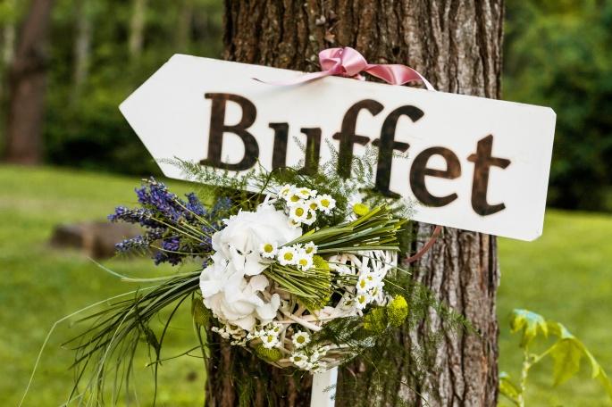 Signboard direction wedding